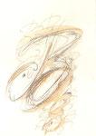 536 Buchstabe B (Datum unbekannt), 12x17cm, Tusche, Aquarell