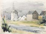 152 Erdeven, Bretagne (1972), 48x35 cm, Aquarell