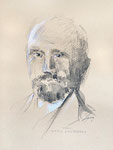 824 Walter Koschatzky, Portrait (unbekannt), 24x32 cm, Pastellstift, Aquarell