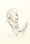 553 Portrait Wilhelm Kempff,  (ca. 2005), 14 x 19 cm, Buntstift, Aquarell