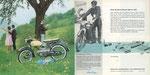 716 Kreidler Florett Prospekt, Innenklappseite und Rücktitel (1963), 40x20 cm, Druck