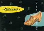 727 Hassia-Sana Schuh Postkarte, Layout (ca. 1960/62), 15x10 cm, Tuschefeder, Tempera