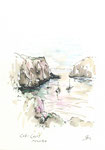 585 Cales Coves - Menorca (2006/2008), 10x15 cm, Bunststift, Aquarell, Tuschefeder