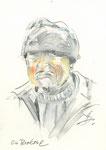 554 Portrait Ein Bretone (ca. 2005), 10x15 cm, Buntstift, Aquarell