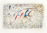 061 Welthören (1992), 52x41 cm, Aquarell, mehrfarbig