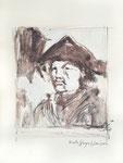 821 Nach Goya - Janssen (2007), 24x32 cm, Pastellstift, Aquarell
