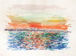 125 Insel Reichenau (1987), 40x30 cm, Aquarell