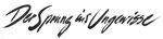 837 Der Sprung ind Ungewisse, Schriftzug (ca. 1960/62), 32x12 cm, Tuschefeder