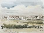 067 Kerhillio, Bretagne (1973), 48x35 cm, Aquarell