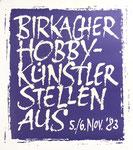 364 Plakat Birkacher Hobbykünstler stellen aus (1983), 42x59 cm, Druck