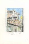 596 In Sartene - Korsika  (ca. 2005), 13x19 cm, Bunststift, Aquarell, Tuschefeder