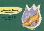 725 Hassia-Sana Schuh Postkarte, Layout (ca. 1960/62), 15x10 cm, Tuschefeder, Tempera