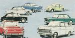 698 Auto-Titelillustrationen (1962), 32x19 cm, Tuschefeder, Tempera