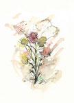 655 Blumen (ca. 2005), 10x15 cm, Aquarell, Tuschefeder