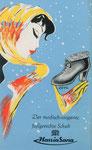 723 Hassia-Sana Schuh-Prospekt, 8-Seiter (ca. 1960/62), 38x10 cm, Druck