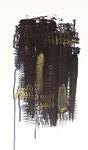 114 Tempera (1989), 27x46 cm, schwarz-gold