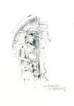 627 Südportal der Kathedrale (Datum unbekannt), 10x15 cm, Tuschefeder