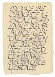628 Denke Beobachte Gestalte (Datum unbekannt), 10x15 cm, Tuschefeder