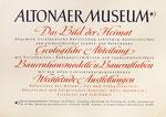 249 Plakat Altonaer Museum (1950), 43x30 cm, Tempera
