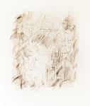 140 Nach einem Quartett 1996, Dvorak, Hindemith, Ravell, Mozart (1996), 36x42 cm, Feder in Sepia