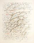 386 Schriftstudie (1984), 36x45 cm, Filzstift Marker