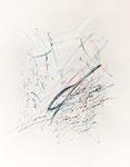 093 ABC in Blautönen (1989), 42x59 cm, Aquarell mit Tinte und Deckweiß