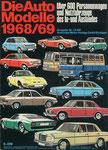 705 Katalog Automodelle 1968/69, 33x24 cm, Druck