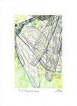 550 Libelle (Datum unbekannt), 14 x 19 cm, Buntstift, Aquarell