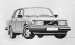 395 Volvo GLT, konstruiert (Datum unbekannt), 43x26 cm, Tusche