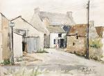 146 Kergouet, Bretagne (1972), 48x35 cm, Aquarell