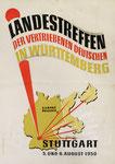 240 Plakat Landestreffen Stuttgart (1950), 41x51 cm, Tempera