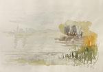 126 Insel Reichenau (1987), 40x30 cm, Aquarell