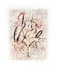 664 Herbst, Kalligrafische Formen (1993), 34x46 cm, Tuschefeder