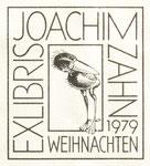362 Exlibris Joachim Zahn (1979) 8x13 cm, Feder