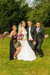 Brautpaar mit Trauzeigen