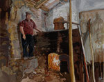 Destilaria do medronho - acryl on canvas - 40 x 50 cm