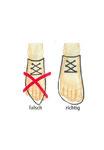 falsches und richtiges Schuhwerk im direkten Vergleich
