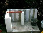 4:Aufbau mit Itong Steine