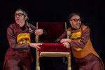 Máscaras Cuero para  Crimen y Telón Ron Lalá Teatro