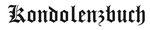 Emblem Kondolenzbuch Nr. 1