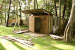 der Bungalow auf unserem Grundstück sollte zum Atelier werden...