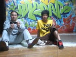 B-BOY GOOFY君と。錦糸町のスタジオにて。