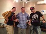 2012年10月小岩スタジオトレインにて。源元さんとけんG君と。