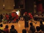 2009年江戸川区B-BOYバトルイベント3やつ。バトルシーン。