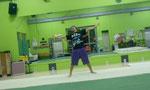 亀戸ダンススタジオ『ARTRIZ』にて。インストラクターのYU-JI君。アクロバットの設備は都内最大級。