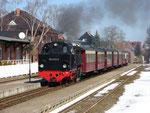 99 2323-6 bei der Einfahrt in den Bf Kühlungsborn Ost © Maurice Ansorge