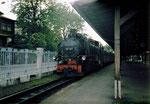 99 787 noch mit Ölfeuerung im Bahnhof Zittau (1999)