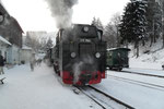 Bereitstehender Zug in Oberwiesenthal.