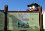 Informationstafel am Limeswanderweg (WP 1/1) bei Rheinbrohl