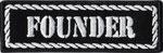 Founder, Gründungsmitglied, MC, Motorcycleclub, Rankpatch Biker, Aufnäher, Patch, Abzeichen